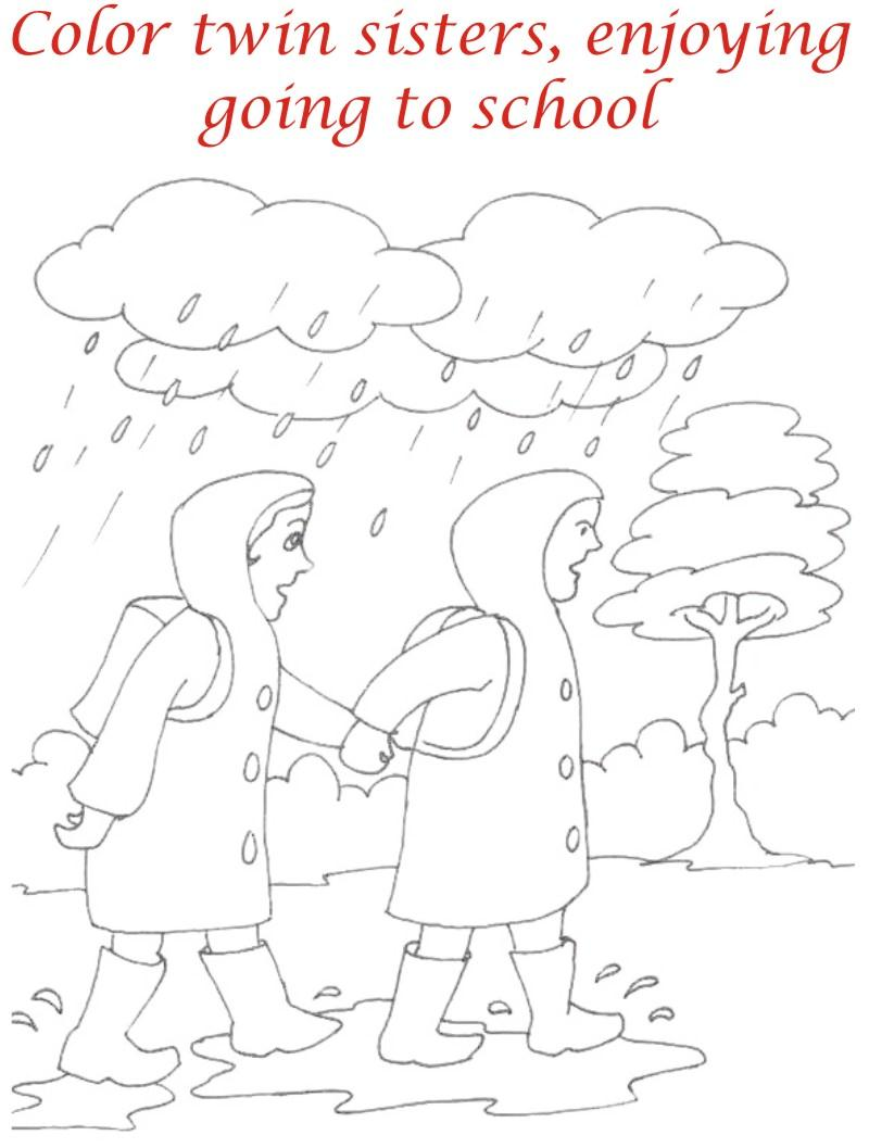 Drawn rain rainy season Rainy Editable Kids Drawing Kids