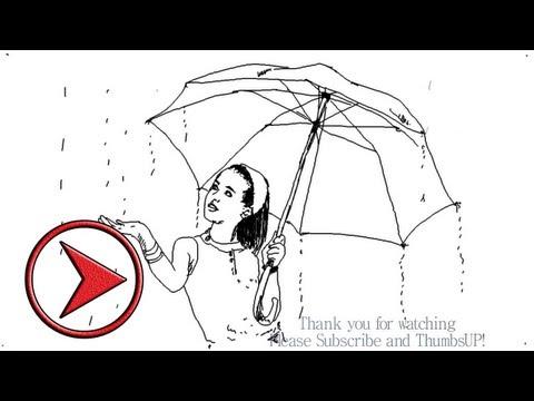 Drawn rain rainy season  with YouTube a Rain