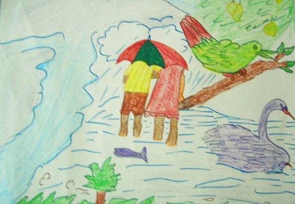 Drawn rain scenery By MaxPro  in com