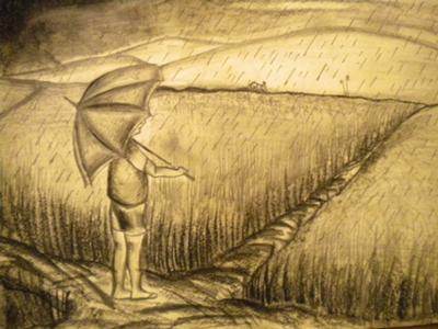 Drawn rain scenery Arish  Wonderful by Artwork