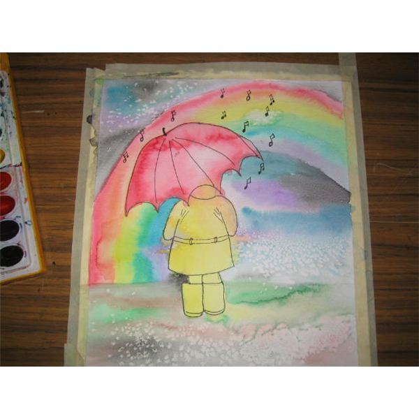 Drawn rain scenery Fine by  Step Rainbow