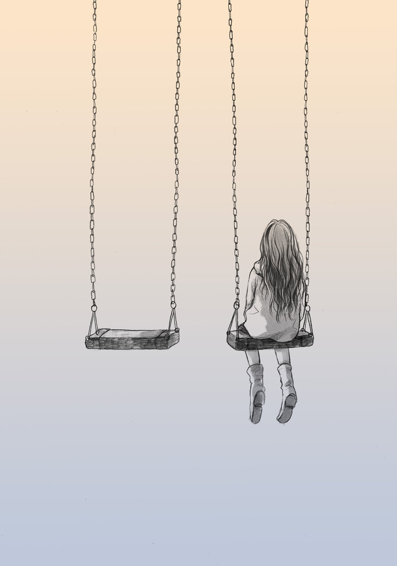 Drawn rain swing Lonely nhienan nhienan on lonely
