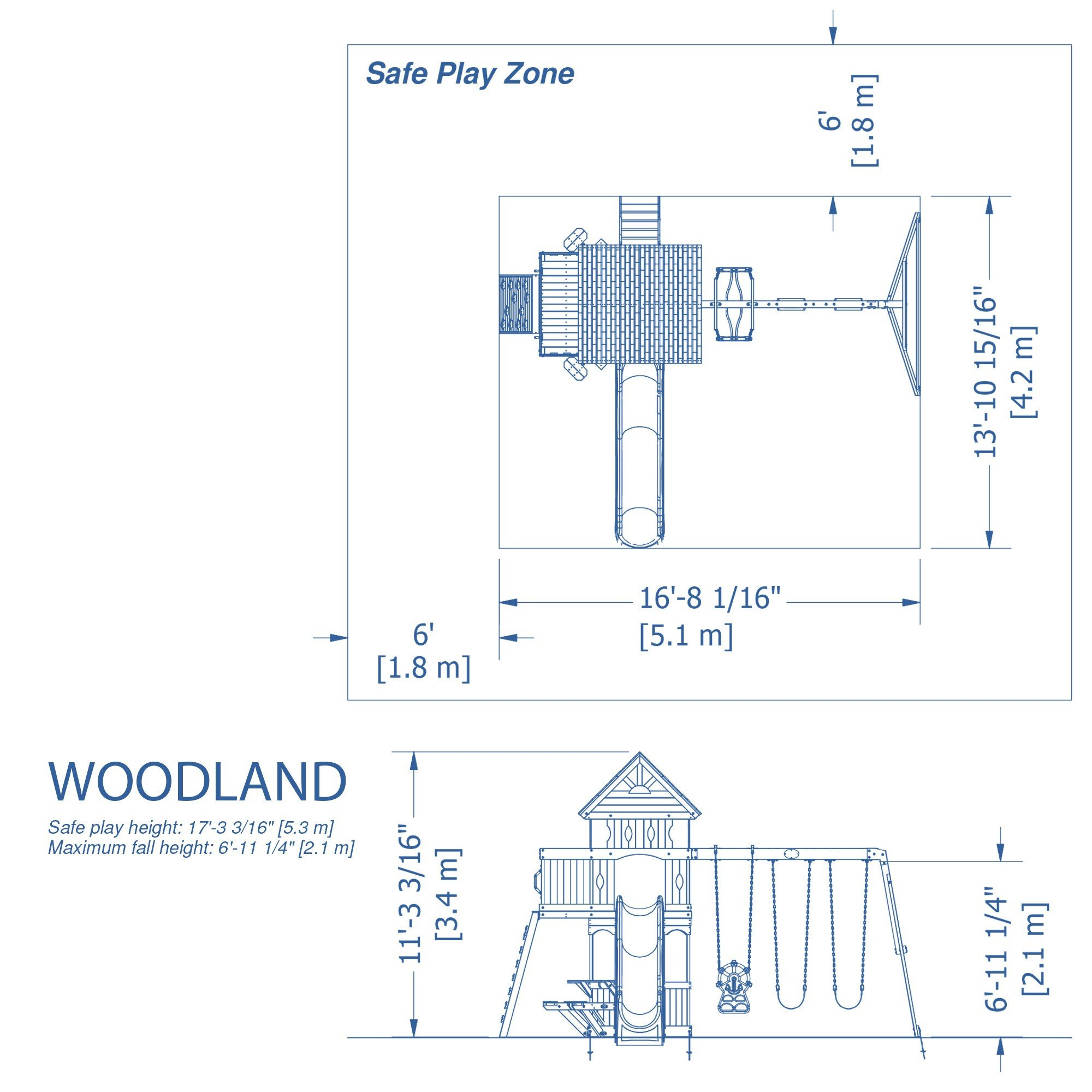 Drawn rain swing Playsets Discovery Woodland $499 Wooden