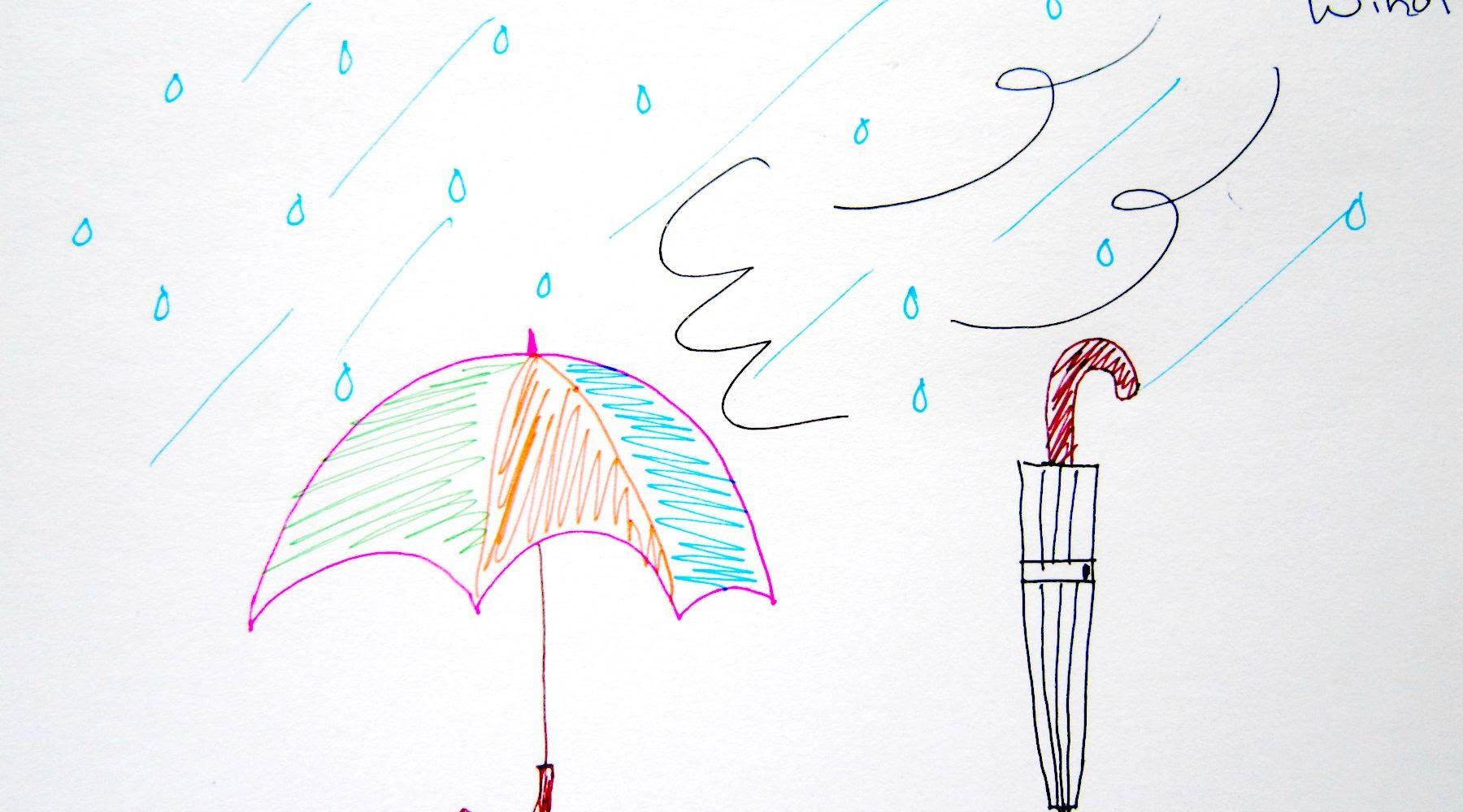 Drawn rain umbrella rain Draw Rain Umbrella  Tutorial