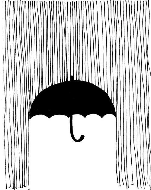 Drawn rain umbrella rain Rain More idea umbrella Pinteres…