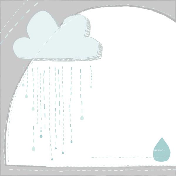 Drawn rain vector background Cloud raindrops Rain Rain Graphic