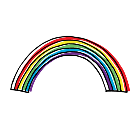 Drawn rainbow Hand drawn Rainbow Habitatt Doodle