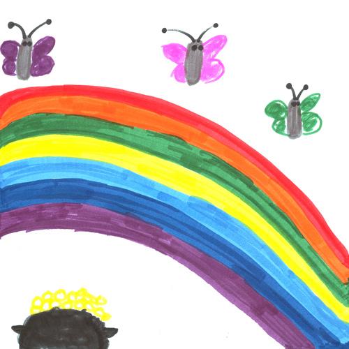 Drawn rainbow Butterfly Emily's Butterflies Butterflies &