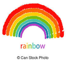 Drawn rainbow Royalty and Clipart Drawing of