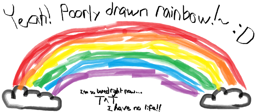 Drawn rainbow Citrusemple on Rainbow by Rainbow