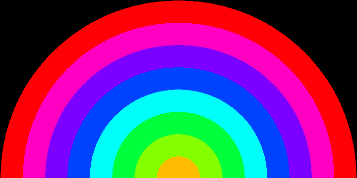 Drawn rainbow animation Animation description here with image