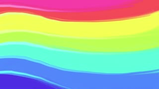 Drawn rainbow animation Animation Hand painted with animation