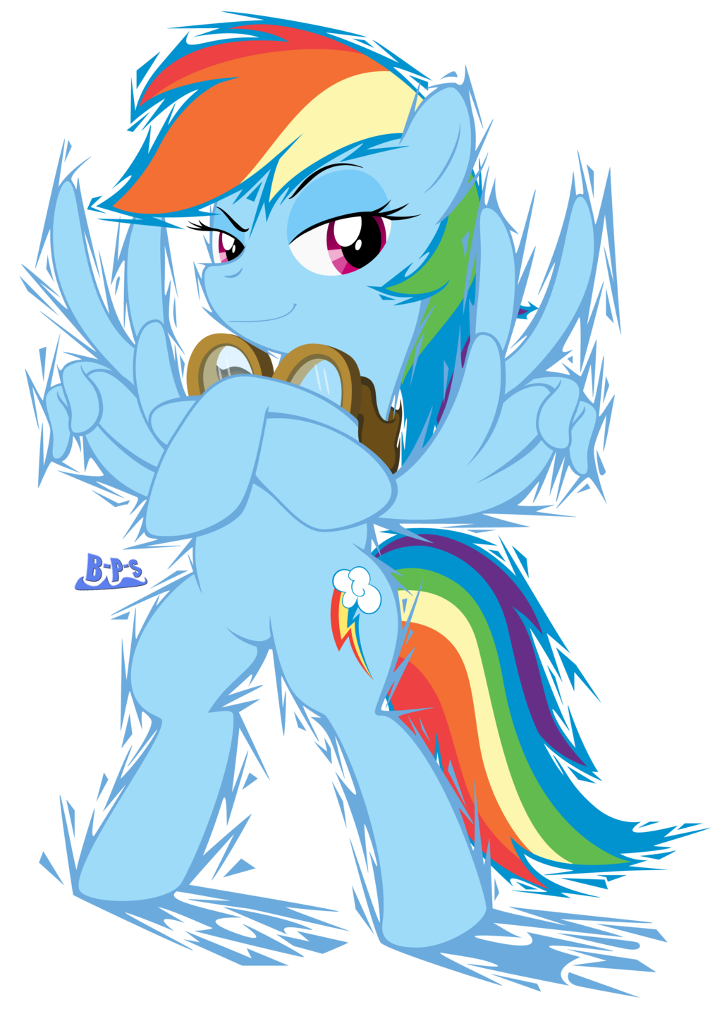 Drawn rainbow blue Paint PonyKart Blue on by