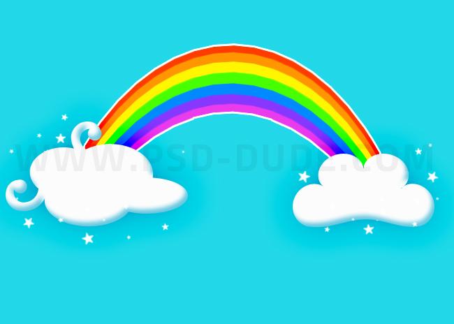 Drawn rainbow cartoon PSDDude a tutorial rainbow cartoon
