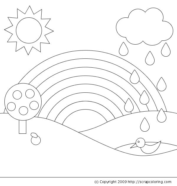 Drawn rainbow class R R for [coloring Birthday