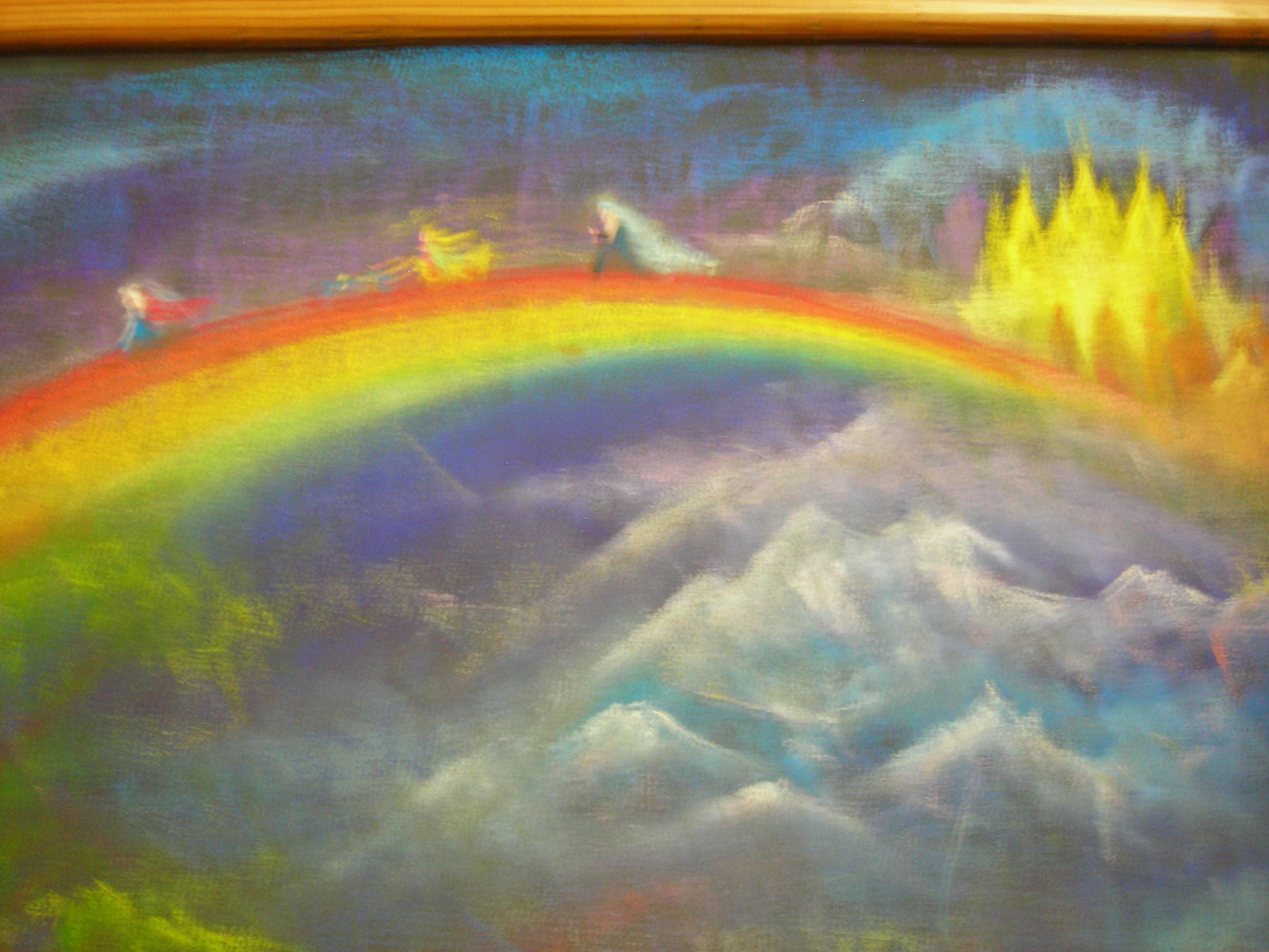 Drawn rainbow class Waldorf Mythology ideas Bifrost ~