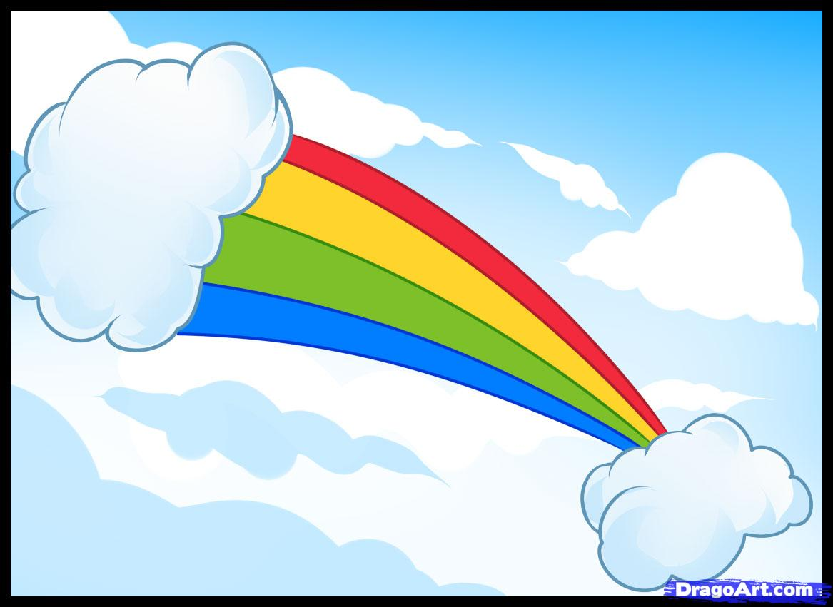 Drawn rainbow cloud To by to Culture draw