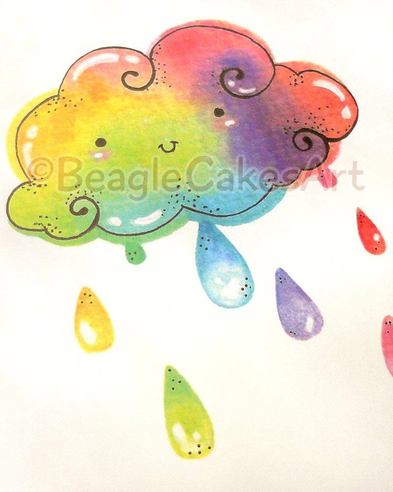 Drawn rainbow cloud Giclee Print: Kawaii Kawaii Giclee
