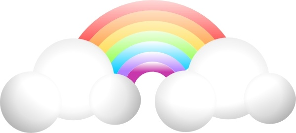 Drawn rainbow cloud clip art In Rainbow Open clip Free