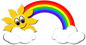 Drawn rainbow cloud clip art With Clipart Clouds Image: Image