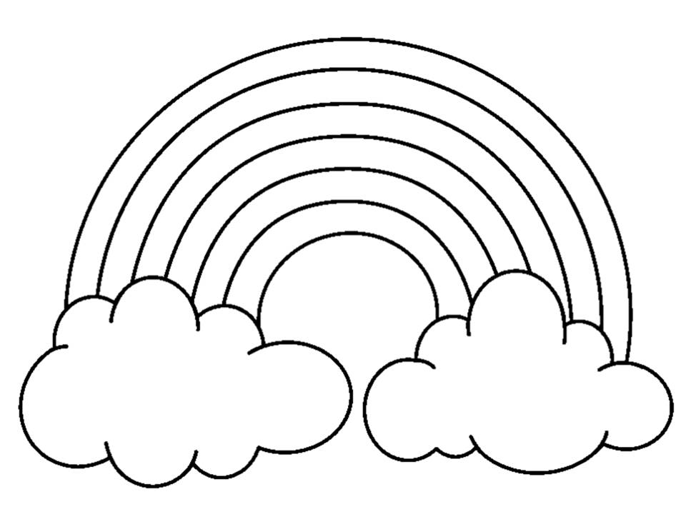 Drawn rainbow cloud clip art Without black clouds and white