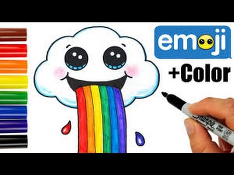 Drawn rainbow cloud graphic How Cloud To Step Draw