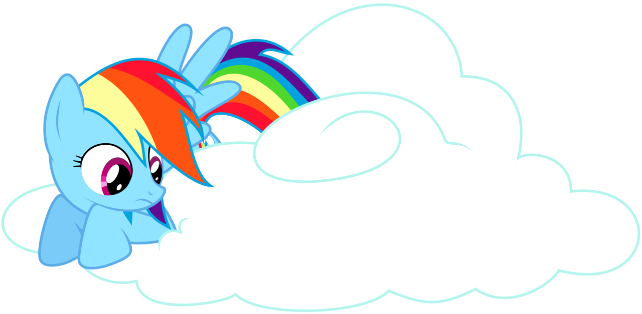 Drawn rainbow cloud png Tiwake sitting on Rainbow on