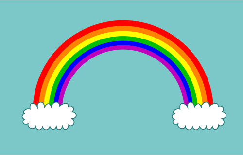 Drawn rainbow cloud png A cartoon Drawing rainbow rainbow