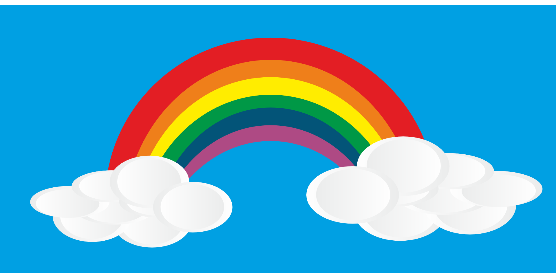 Drawn rainbow cloud png Image white clouds Rainbow white
