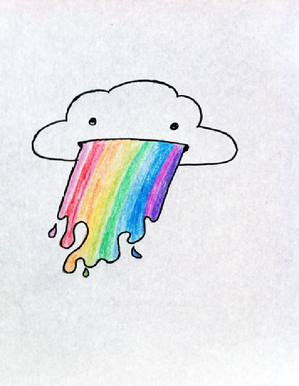 Drawn rainbow cloud png KaennoKage Vomiting DeviantArt KaennoKage by