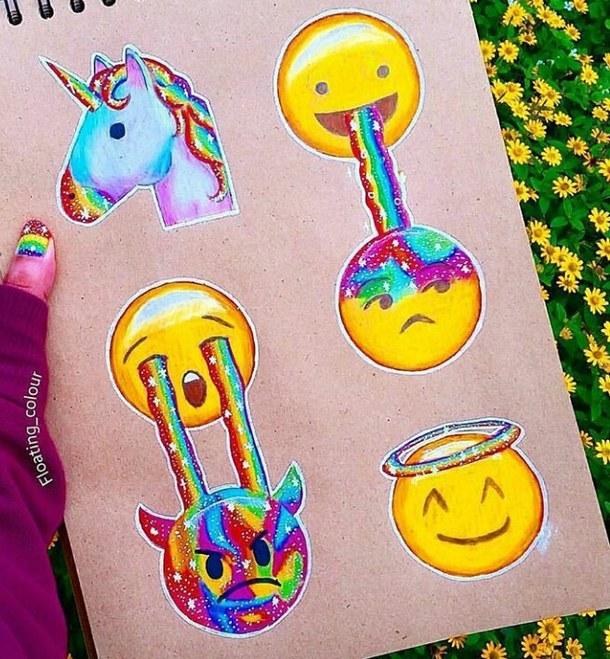 Drawn rainbow colour Dibujos ♥ ♥ Ailin Drawing