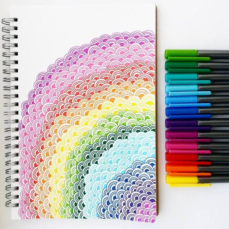 Drawn rainbow colour Glows pattern! Thank colourful all