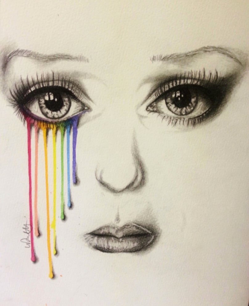 Drawn rainbow colour A artist has artist coloured