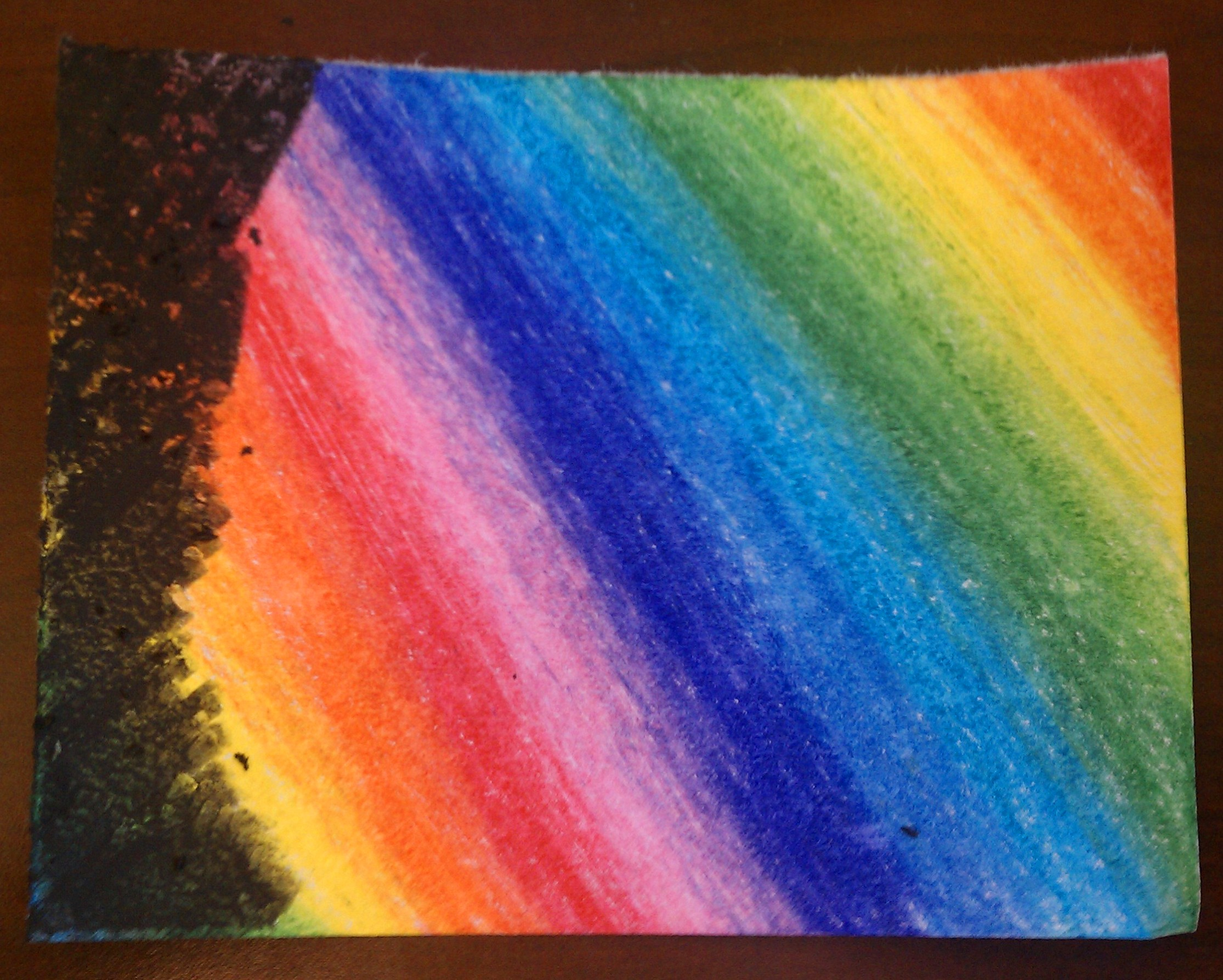 Drawn rainbow crayon To You the colors a