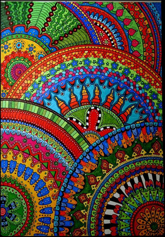 Drawn rainbow doodle Cajunmama: Circle Decorate: Doodle Draw