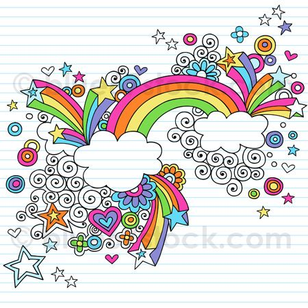 Drawn rainbow doodle Flickr by Illustration Notebook 25+