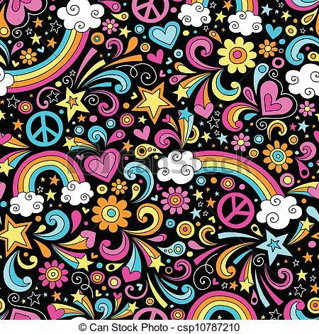 Drawn rainbow doodle Doodles Clip Vector  Rainbows