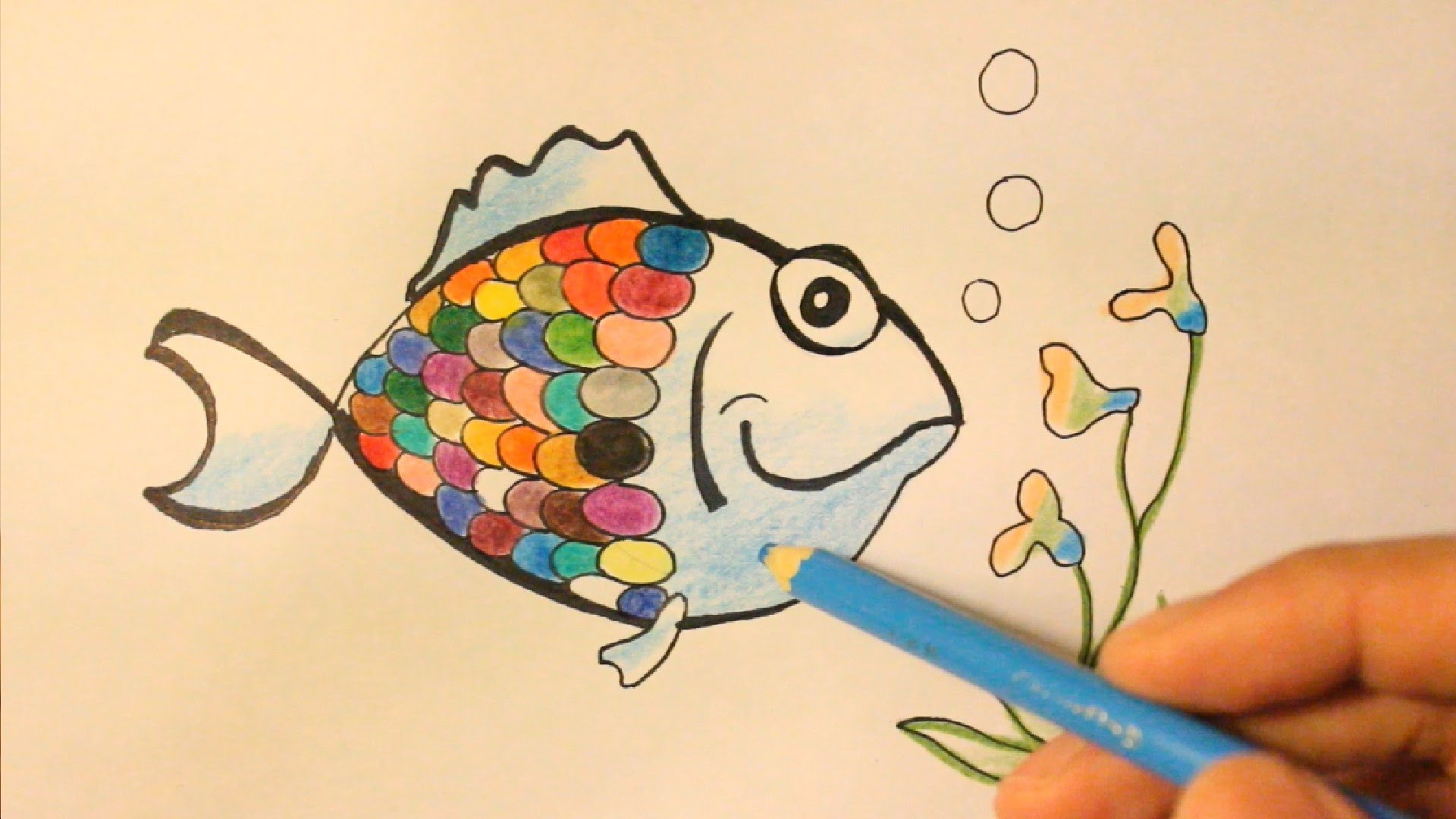 Drawn rainbow draw Rainbow Draw To Rainbow Fish
