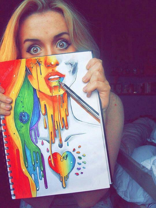 Drawn rainbow draw Art Dump faces Beauty and