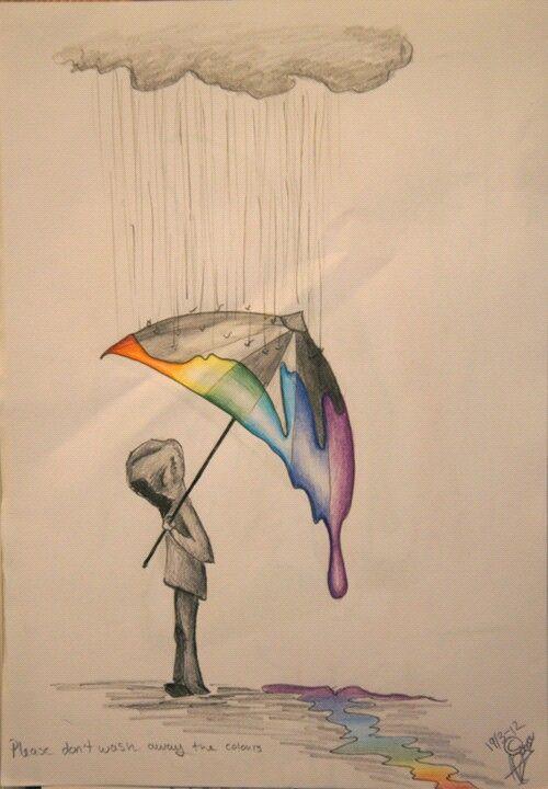 Drawn rainbow faded On sorrow Rainbow let 365