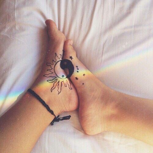 Drawn rainbow faded #beautiful #hippie #nice #body #fab#fade