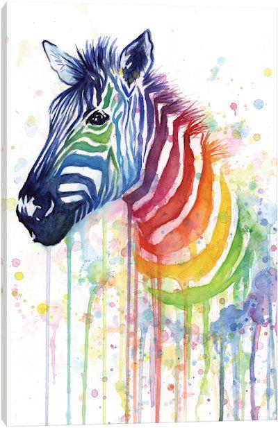 Drawn rainbow half Pinterest Shvartsur Rainbow Canvas Zebra