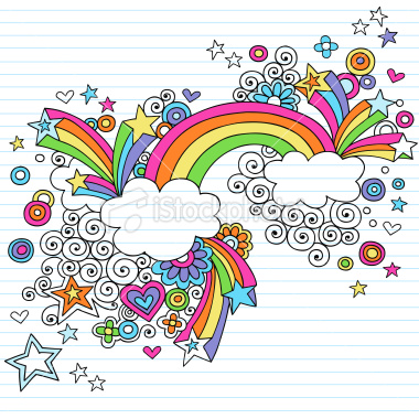 Drawn rainbow high resolution Groovy collection millions 16204767 Doodles