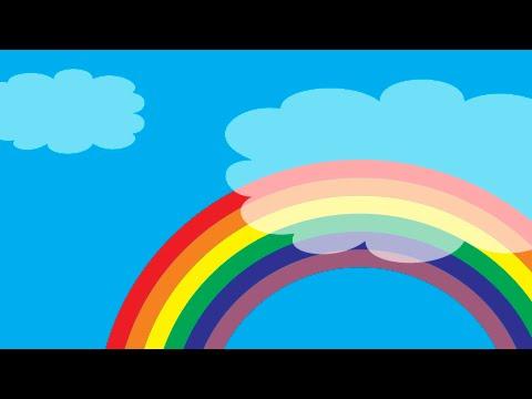 Drawn rainbow illustration In Easy in Coreldraw Rainbow