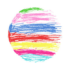 Drawn rainbow kid Like and child`s Pencil crayon