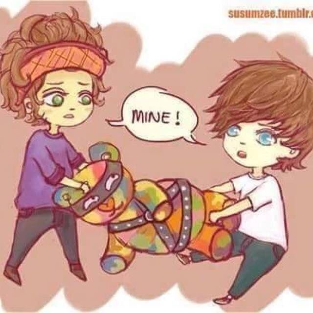 Drawn rainbow larry On this images fanart 1D