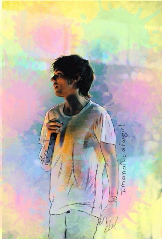 Drawn rainbow larry Best fanart 1D Louis My