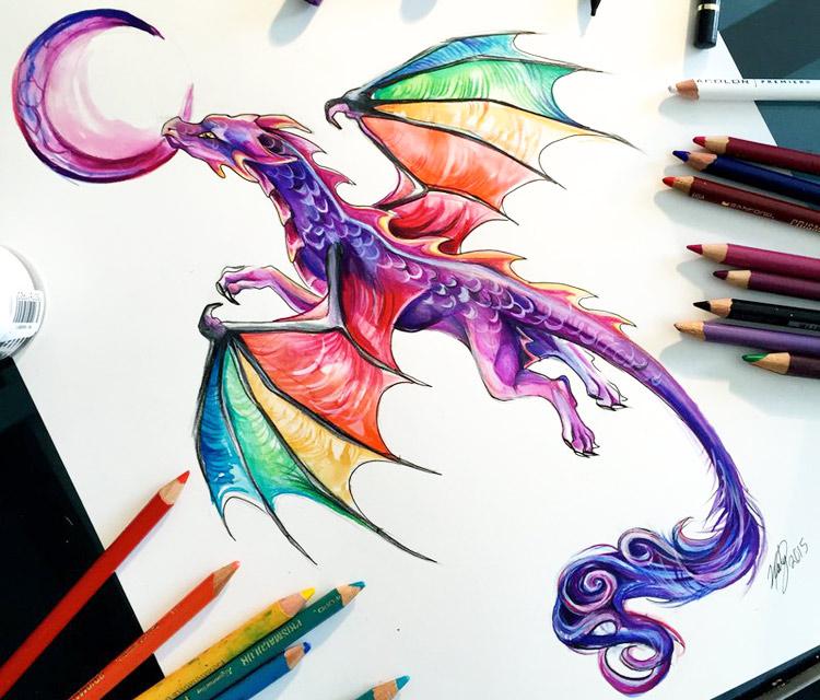 Drawn rainbow larry Katy Dragons dragon by Art