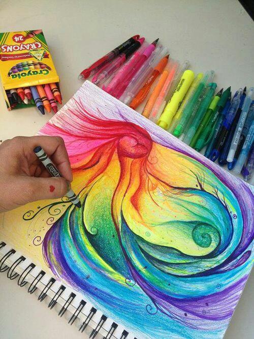 Drawn rainbow love Art this  Supplication Painting