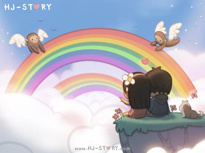 Drawn rainbow love By hjstory Rainbow hjstory 94